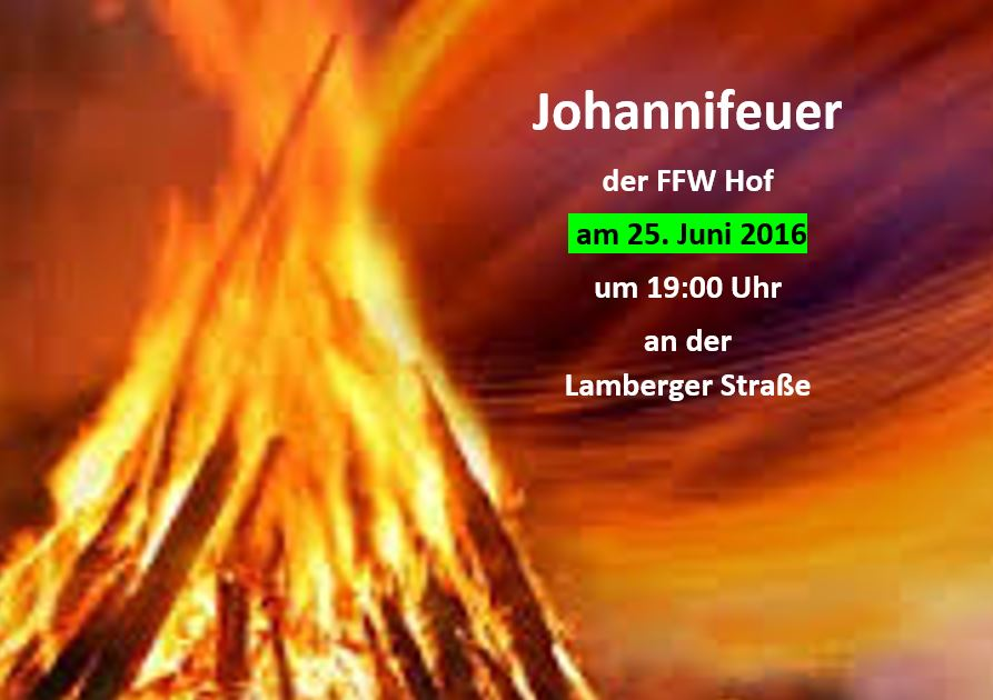 2016 Johannifeuer